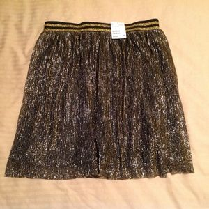 Divided Woman's Skirt Size XS Gold/Black NWT